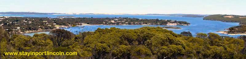 panorama photo coffin bay south australia